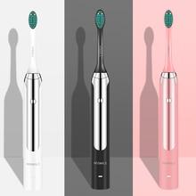 Brosse à dents électrique blanchissante, 4 modes de brosse à dents électrique et résistante à leau, massage et vibration sonique, 4 pièces