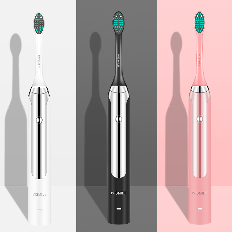 Electric Toothbrush Blue-ray Whitening 4 Mode Clean Whitening Massage Sonic Vibration Waterproof 2pcs Electric Toothbrush Heads