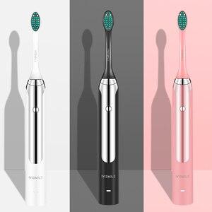 Image 1 - Spazzolino da denti elettrico Blu ray sbiancamento 4 modalità sbiancamento pulito massaggio sonic vibrazione impermeabile 2pcs teste spazzolino da denti elettrico