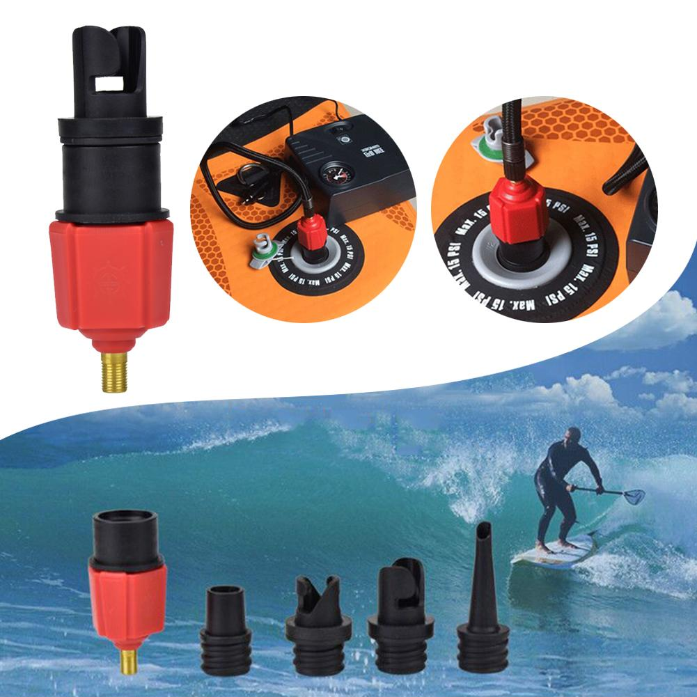 SUP Pump Adaptor Air Valve Adapter For Surf Paddle Board Dinghy Canoe Inflatable Boat With Car Air Pump& Regular Bicycle Pump
