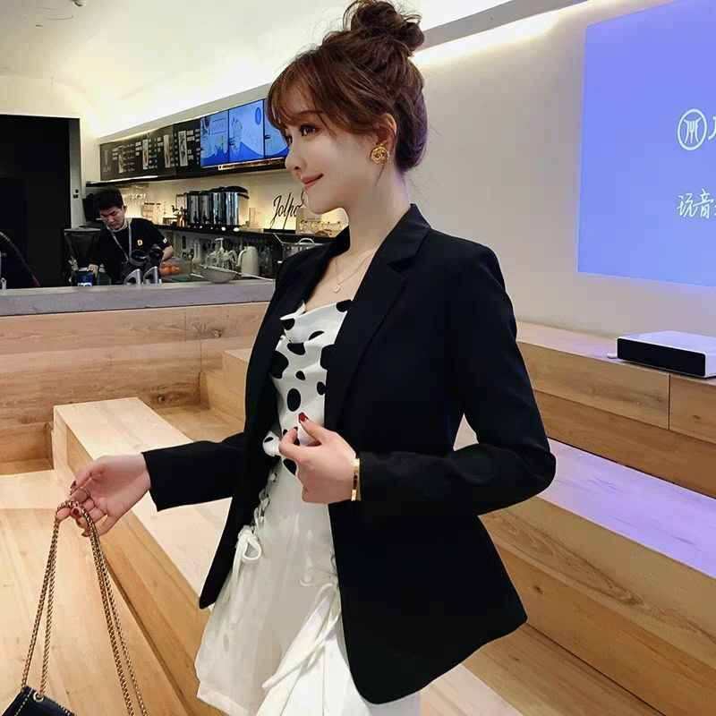 Elegante casual magro formal escritório blazer feminino branco preto jaquetas feminino 2019 algodão casaco senhoras blazers plus size terno longo 73