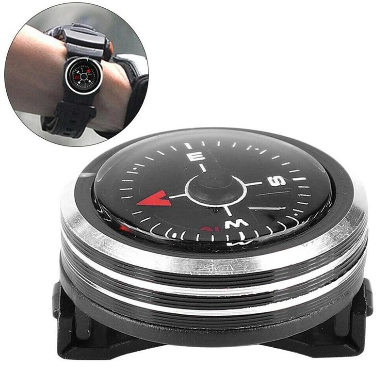 Мини-ремешок для часов, кнопка компаса, точность навигации, Компас для выживания, портативный карманный компас, аксессуары для походов и кем...