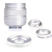 Серебристая Фуцзянь 50 мм f14 cc ТВ камера объектив + c eosm