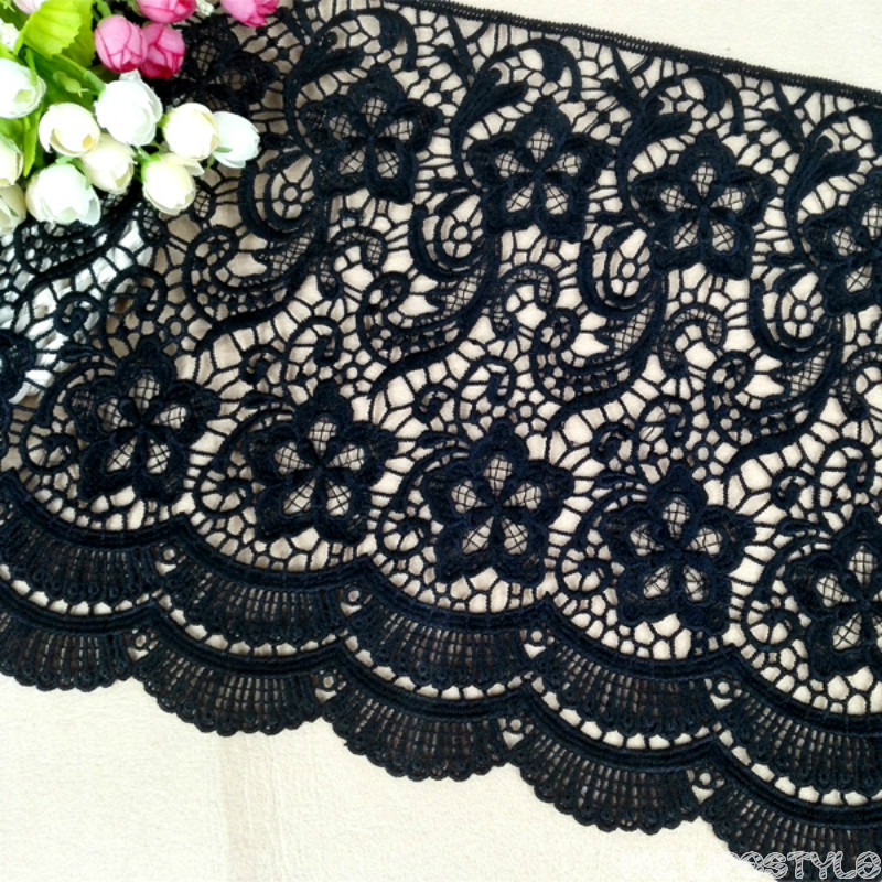 1yard Water Soluble Lace Trim For Clothing Accessories DIY Clothing Dress Skirt Hem Accessories Decorative Cloth