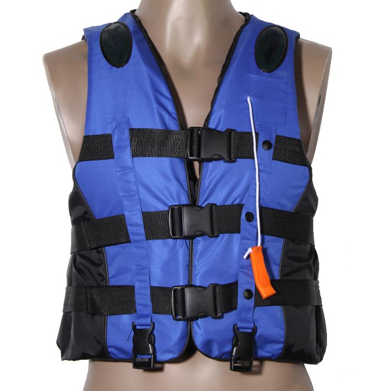 Polyester Adult Life Jacket Universal Swimming Boating Ski Vest+Whistle