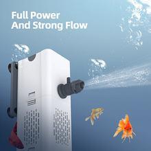 Fisch Tank Gebaut-in Filter Aquarium Tauch Luft Sauerstoff Interne Pumpe aquarium luftpumpe Box Hohe Festigkeit Tragen-beständig rotor