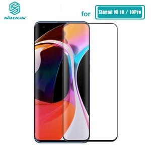 Image 1 - Tempered Glass For Xiaomi Mi 10 Ultra Mi10 / 10 Pro Nillkin 3D CP+ Max Full Cover Screen Protector For Xiaomi Mi 10 Glass