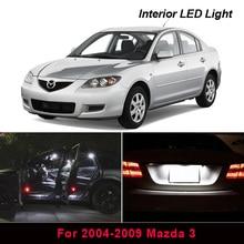 8x Xenon White LED Light Bulb Interior Package Kit For 2004-2009 Mazda 3 Map Dome Trunk License Plate light