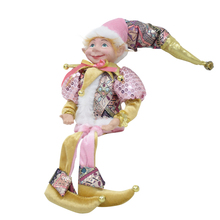 5 colors plush toy elf doll Christmas tree decoration 12