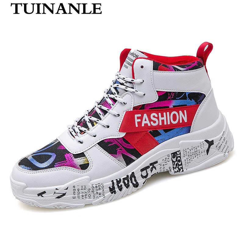 TUINANLE Graffiti Women Sneakers Casual