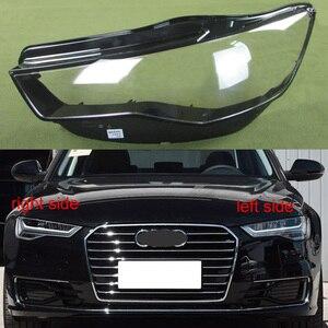 Передняя фара, прозрачная крышка, абажур, налобный фонарь, чехол, объектив, фара, стекло для Audi A6L C7 2016 2017 2018