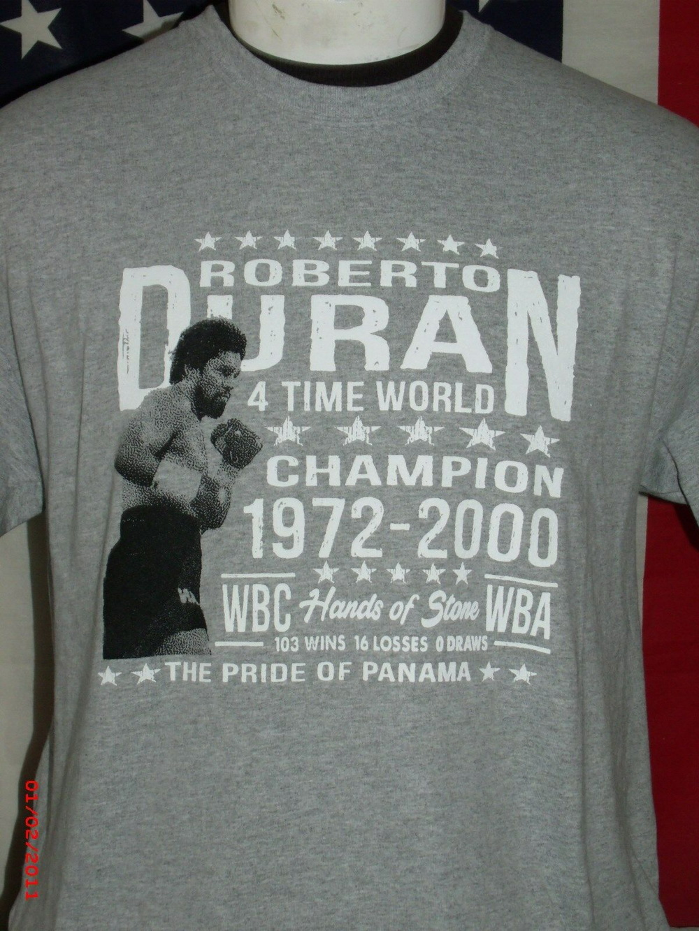 Roberto Duran Boxing Shirt Trinidad Puerto Rico Latin Boxers Sportswear Men Tops Tee Shirt