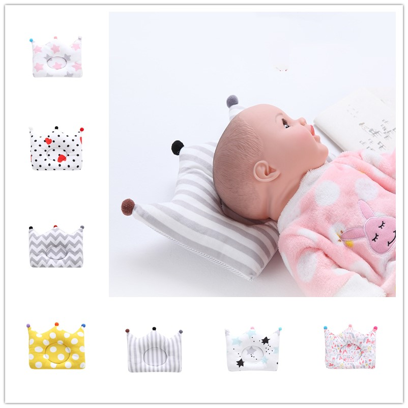 Baby Head Shaping Pillow For Newborn Breathable 3D Head Protection Pad Toddler Nursing Crown Shaped Sleeper To Prevent Side