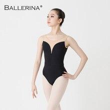 ผู้หญิงบัลเล่ต์Leotardเต้นรำเครื่องแต่งกายAdulto AerialistยิมนาสติกแขนกุดสีแดงLeotards Ballerina 2506