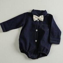 Boys Romper Baby-Girls-Boys Cotton Shirts Jumpsuit Long-Sleeve Toddler Newborn Kids Autumn