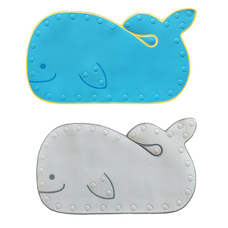 Cartoon Whale Shape Baby Play Mat Bathmat With Suction Base Bathroom Mat Baby Shower Non-slip Mat