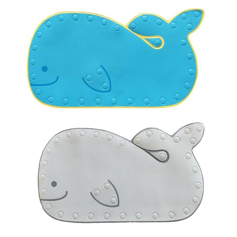 Cartoon Whale Shape Baby Play Mat Bathmat With Suction Base Bathroom Mat Baby Shower Non-slip Mat