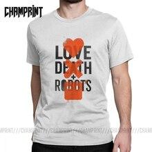 Amor, la muerte de los Robots de los hombres T camisa camiseta retro de manga corta de cuello redondo camisetas de algodón tops de nueva llegada de talla grande 4XL 5XL