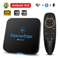 2021 Smart Android Tv Box Android 10 4G 64Gb 32Gb 4K H.265 Media Player 3D Video 2.4G 5GHz Wifi Smart Tv Set Top Box Bluetooth