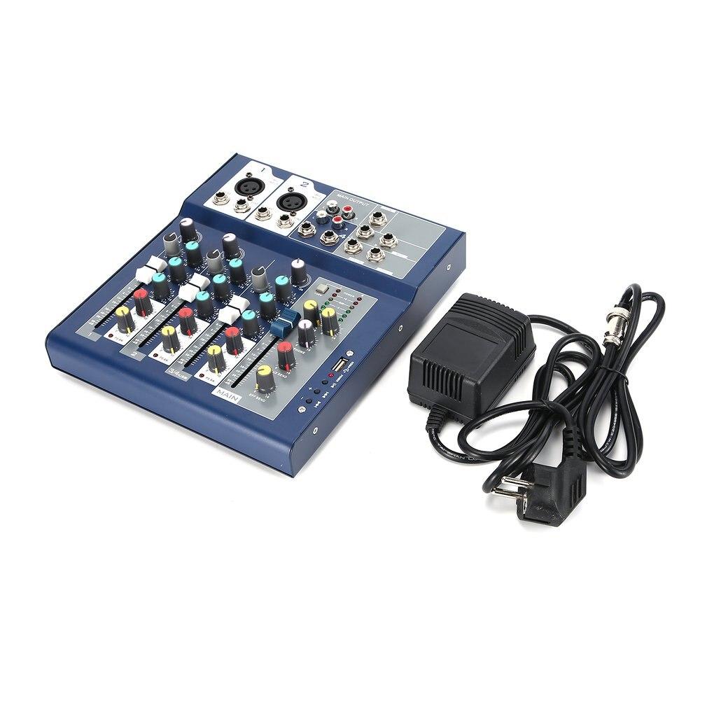 F-4 4 canaux professionnel Studio de mélange en direct Audio Console de son ancre réseau Portable dispositif de mélange processeur d'effet Vocal