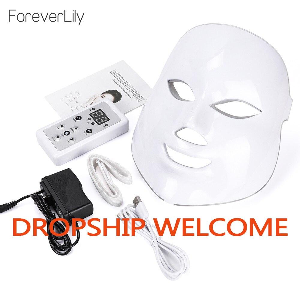 Led Mask Photon Electric LED Facial Mask 7 Colors Led with Neck Skin Rejuvenation Anti Wrinkle Acne Photon Therapy Salon tool Face Skin Care Machine    - AliExpress