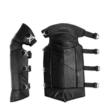 Knee skin woolen leather knee pads lengthened and thickened, cold and wind-proof electric vehicle knee protection leg batches