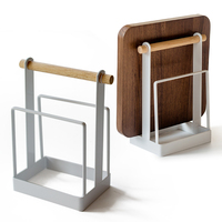 Iron cutting board kitchen knife rack pot rack multifunctional storage rack kitchenware