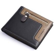 Модный кожаный мужской кошелек с бумажником ID Card Holder кошелек клатч на молнии мужской кошелек винтажный бизнес-кошелек