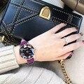 2020 горячая Распродажа  женские часы со стразами  женские блестящие часы  квадратные часы розового золота  кожаные Наручные часы  женские час...