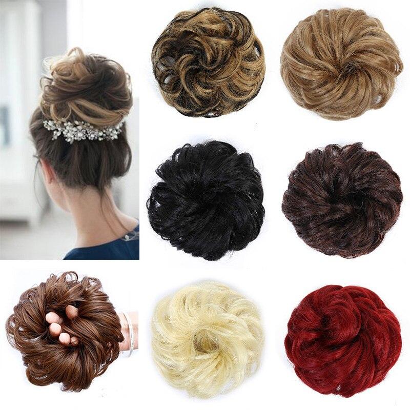 LUPU Synthetic Wigs Natural Hair, Artificial Hair, Suitable For Women's Medium Long Hair, Extended Hair Accessories Hairpin Bun
