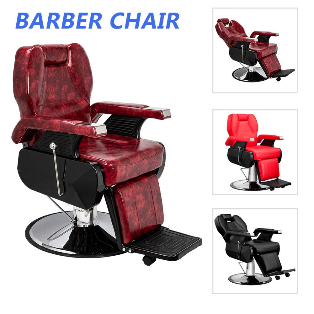 Classic Large Barber Chair Fashionable Chaise Salon Beauty Makeup Chair Leather Barbershop Furniture