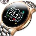 LIGE 2020, новые часы, женские спортивные часы, водонепроницаемые, фитнес-трекер, пульсометр, кровяное давление, шагомер, для Android, ios, часы для муж...
