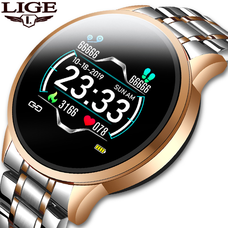 LIGE 2020 New Watch Women Sports Watch Waterproof Fitness Tracker Heart Rate Blood Pressure Pedometer For Android Ios Watch Men