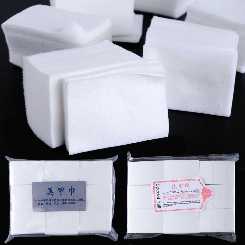Lint-Free Napkins For Manicure Removing Gel Varnish Soak Off Gel Polish Remover Soft Wipe Cotton Pads Paper Cleaner JI957-1