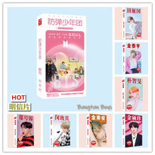 Kpop Bangtan Boys Poster Postcard JUNGKOOK RM,V,JIMIN,JIN,SUGA,J-HOPE,JIMIN Photo card Stickers Gift Collection 340pcs/set(China)