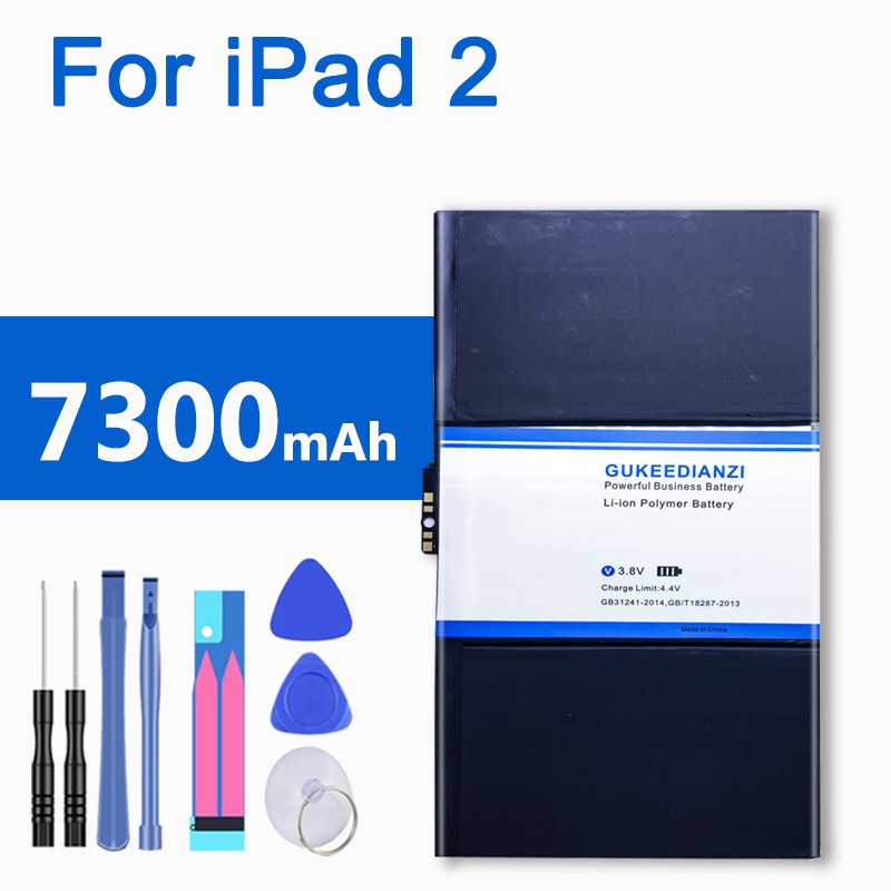 7300mAh Tablet <font><b>Battery</b></font> For iPad 2 A1395 A1396 A1397 <font><b>A1376</b></font> A1316 Li-ion Polymer <font><b>Battery</b></font> For Apple iPad2 image