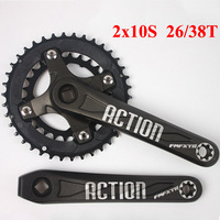 FMFXTR Bicycle Crankset 26/38t 2X10s Chainring Double Speed 104/64bcd MTB Bike Crank 170mm Mountain Bikes Parts Accessories