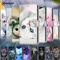 Чехол-книжка с 3D рисунком животных для Huawei Y3, Y6, Y7, Y9 2018, 2017, 2019, кожаный чехол-бумажник для телефона Huawei Y5 II, чехлы, чехлы