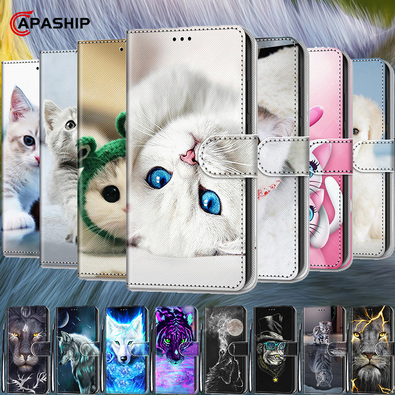 3D Cartoon Animal Wallet Flip Case For <font><b>Samsung</b></font> Galaxy A10 A20 A30 A40 A50 A60 A70 <font><b>A80</b></font> A90 Case Leather <font><b>Cover</b></font> For A10S A20S Cases image