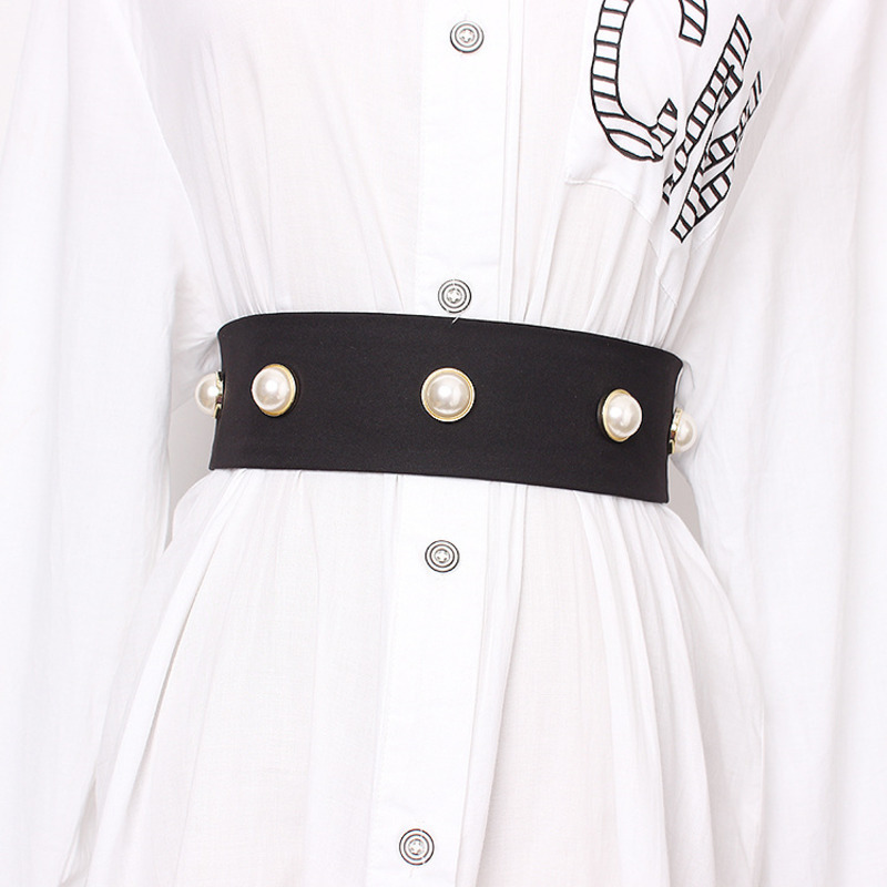 2020 Spring Stylish Wide Belt Tide Elastic Corset Belt Fashion All-match Belts For Women Female New Design Belt Waistband ZK572