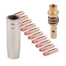 12 шт. мощность сопла 0,8 мм M6 контактная Труба Держатель сопла для MB-15AK сварщика