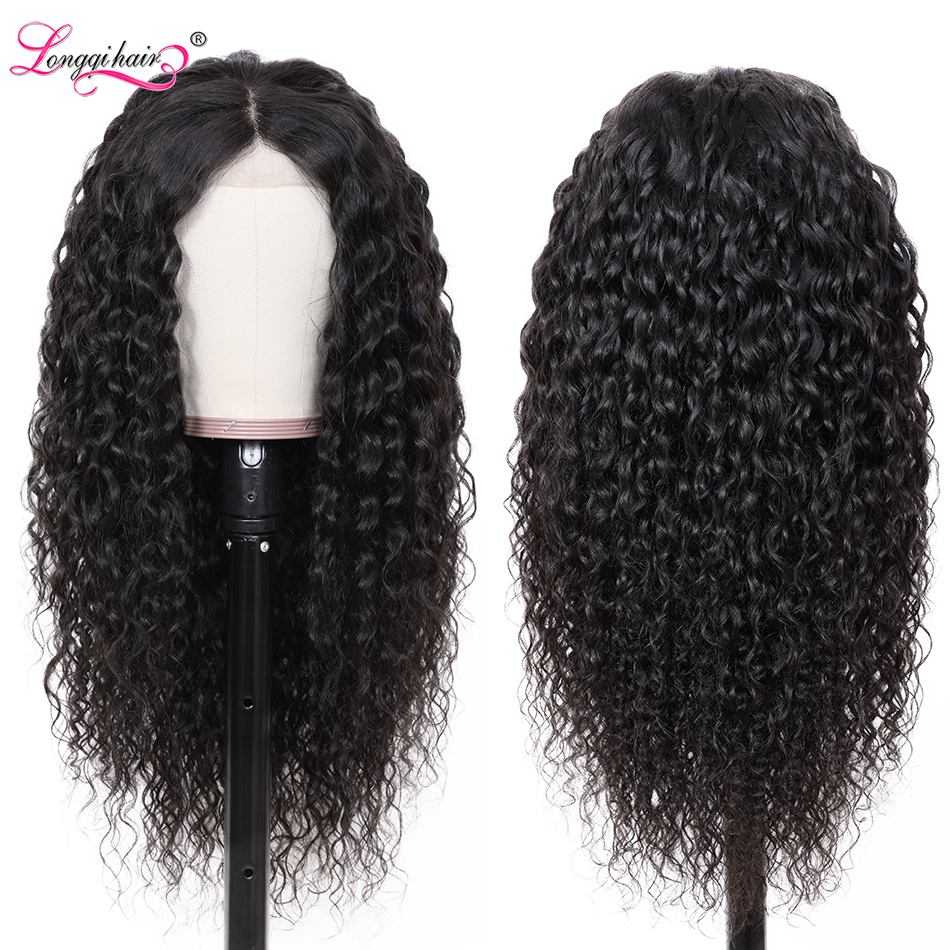 Longqi Hair Water Wave Wig For Women Preplucked Lace Front Human Hair Wigs 13x4 13x6 Lace Front Brazilian Wig Human Hair Remy