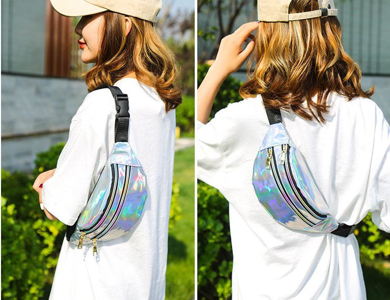 New Style PU Leather Splicing Pattern Waist Bag Men's And Women's Chest Bag Cross Body Seven Color Waterproof Beach Bag