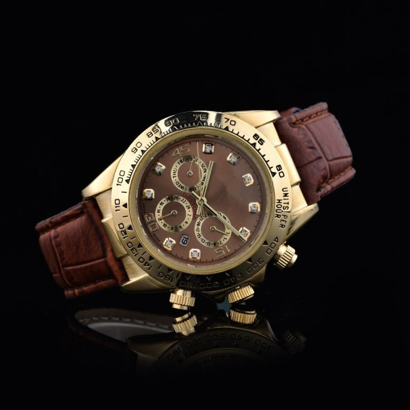 Top Brand 40mm Small Three Needle Quartz Leather Belt Mens Gold Watches Analog Men Designer Watch Wholesale Men Gifts Wristwatch