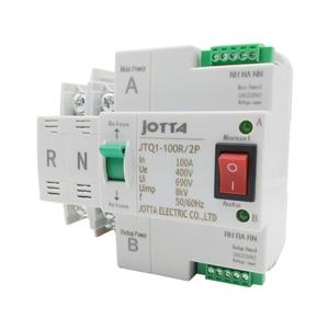 Image 3 - ATS Dual Power Automatic Transfer Switch JTQ1 100A 2P/3P/4P  Circuit Breaker MCB AC 230V  Household 35mm Rail Installation