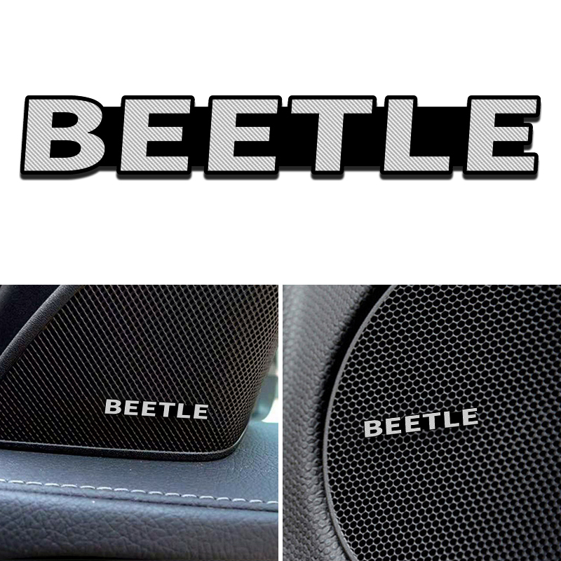 4pcs NEW Fit For Volkswagen VW BEETLE 2013-2019 Aluminum Alloy Sticker Car Stereo Stickers Car Accessories