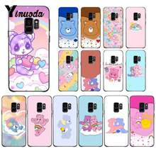 Yinuoda Korean Cute Cartoon Rainbow Bear DIY Luxury High-end Protector PhoneCase For Samsung GALAXY S9 plus S3 S6 7 8 9 S10 E S9(China)