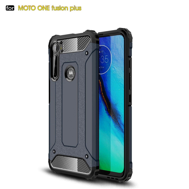 For Coque Motorola Moto One Fusion Plus Case Heavy Armor Slim Hard Rubber Cover Silicone Phone Case For Motorola One Fusion Plus