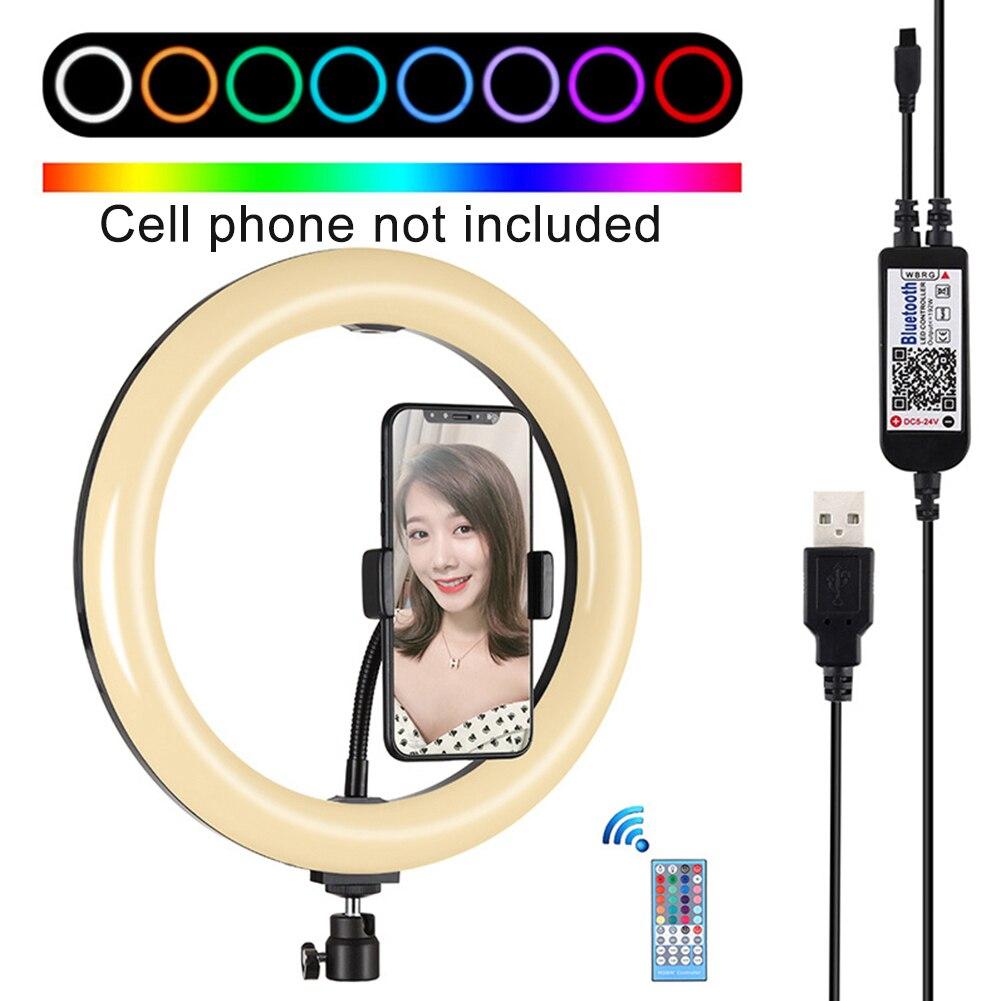 cheapest 10inch Selfie Ring Lamp Led Ring Light Bluetooth Selfie stick For Phone Video Photography Lighting For Youtube Phone Holder