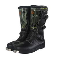 Motorcycle riding BOOTS Waterproof PU Leather Shoes Motorcycle Rain BOTAS Professional Boot Racing Bottes Motocross Boots